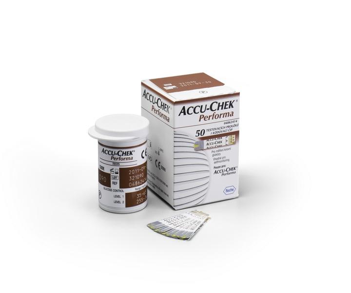 Testovací proužky Accu-Chek Performa 50ks