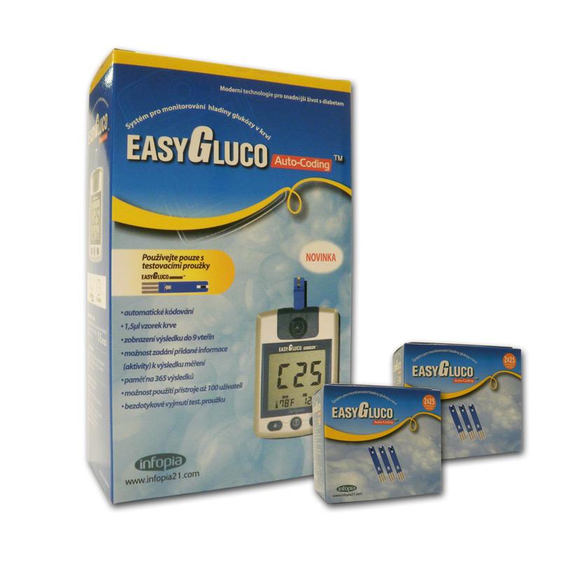 Glukometr EasyGluco + 100 ks proužků