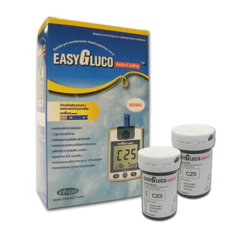 Glukometr EasyGluco + 50 ks proužků
