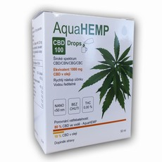AquaHEMP DROPS broad spectrum - 50 ml CBD 100