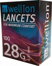 Lancety 28G do glukometru Wellion 100ks